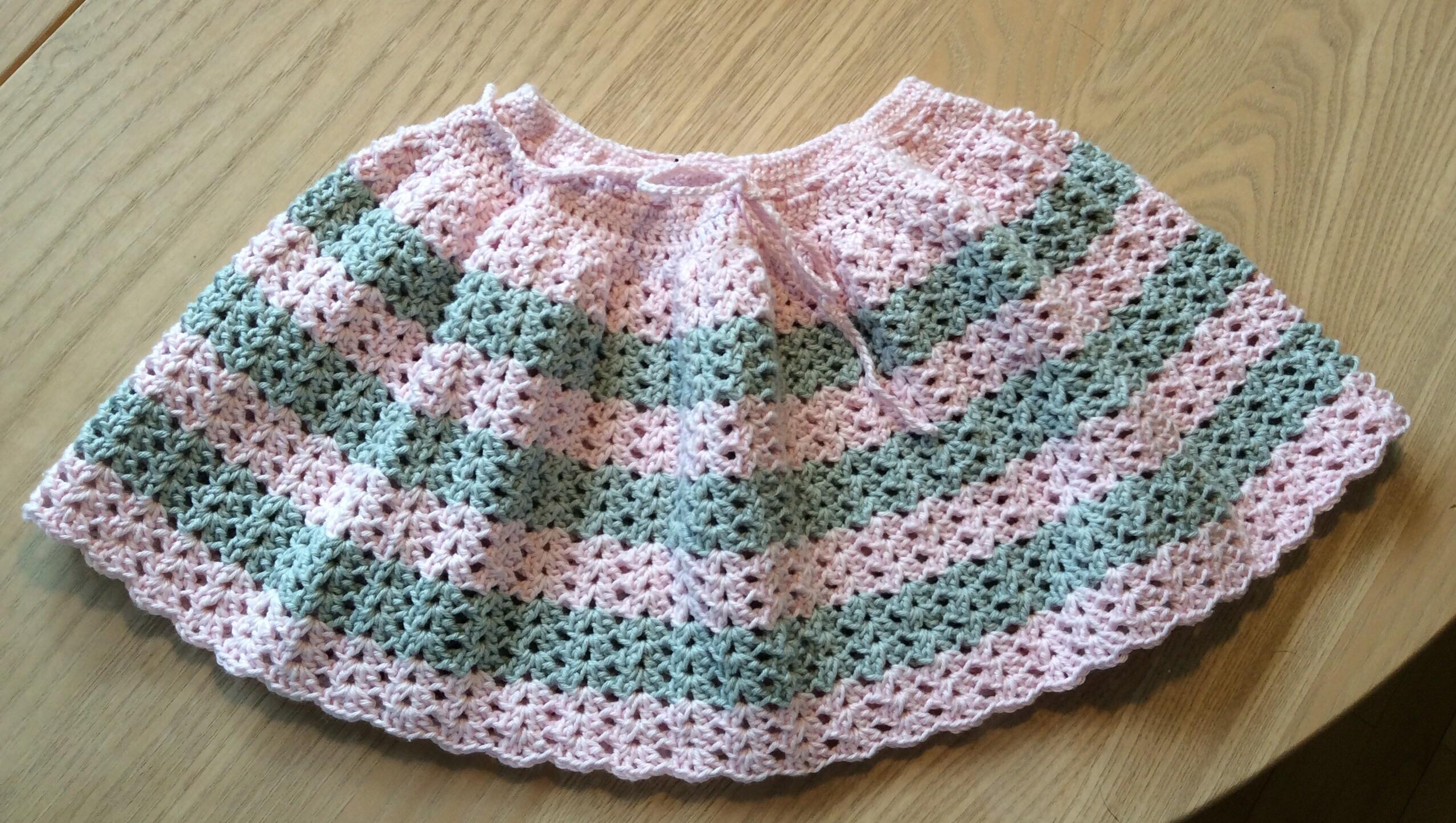 a05e6f25c784 Hæklet baby nederdel