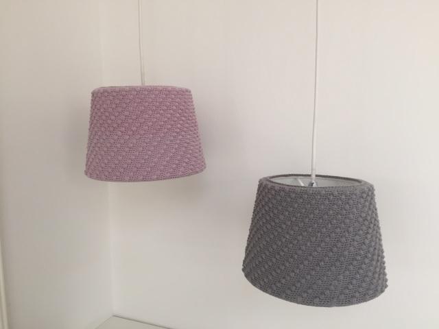 Hæklet lampeskærm